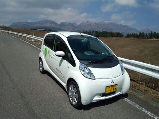 完全電気自動車の乗り心地 久住高原