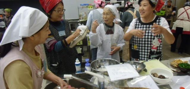 地元「くじゅうの風」さんによる郷土料理講習